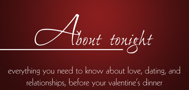 Everything you need to know about love, dating, and relationships before your valentine's dinner