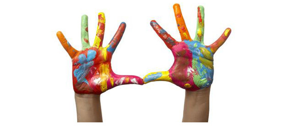 hands-painted